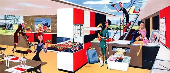 House of the Future - 1956 illustration by Fred McNabb: