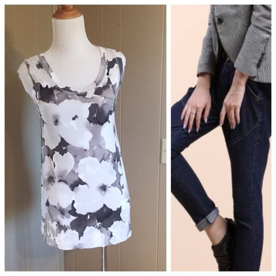 Vera Wang long floral top Vera Wang soft long floral top 100% Rayon! Really soft! Great with jeans and a blazer. Excellent condition XS Vera Wang Tops