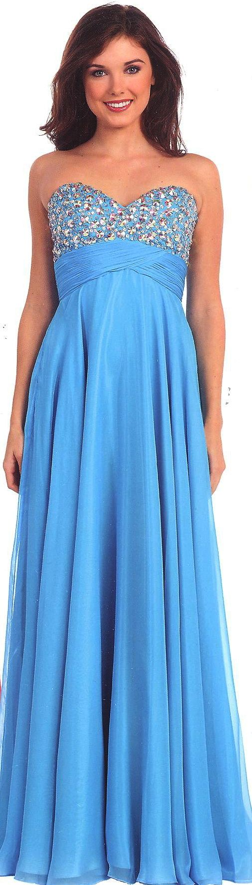 Prom Dresses Evening Dresses under $200<BR>11015<BR>Strapless sweetheart bodice with large stones, ruched crisscross trim leading to empire waist