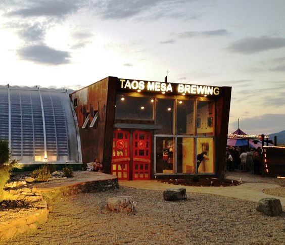 You'll spot this brewery well before you arrive; the exterior resembles a metal airplane hangar and stands out in the desert plain outside of Taos, New Mexico
