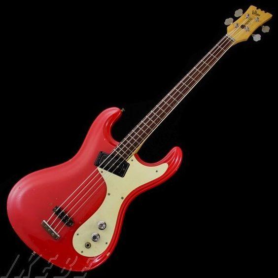 Mosrite Mark-I Bass '65 Strawberry Red Used w / Hard case | eBay