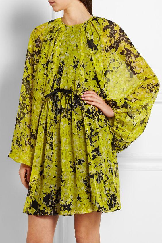 Giambattista Valli | Floral-print silk-chiffon mini dress | NET-A-PORTER.COM