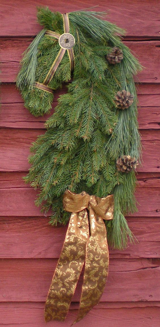 Horse Head Wreaths: These are the SAME wreaths made by professional equine artist Kathy Morawski & featured by Counter-Canter Culture & on the cover of Northwest Rider Magazine! REAL PINE Wreaths ordered NOW will start shipping in late Nov 2014! Very limited availability and these sell out fast so order now to avoid disappointment! https://www.etsy.com/listing/170060085/real-pine-early-order-savings-horse-head?ref=shop_home_feat_1