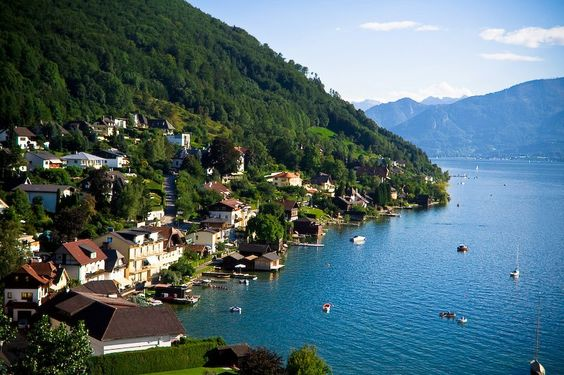 Traunsee lake, Austria.
