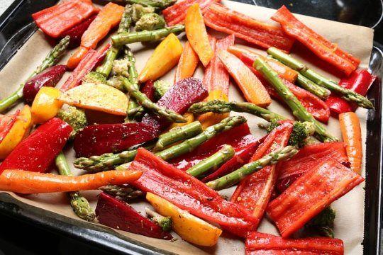 #Rezept: Ofengemüse mit Erdnussdip