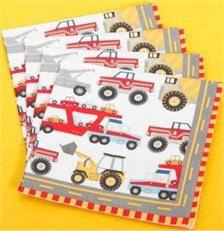Construction party napkins ~ Big rig ~ construction birthday supplies ~ diggers…