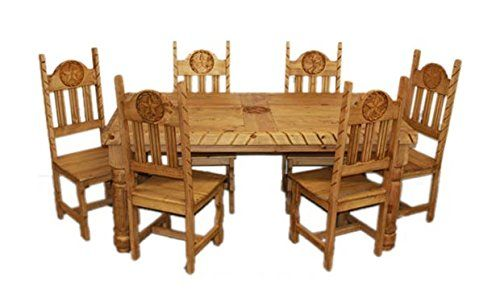 Rustic Star Rope Dining Room Set Western Cabin Lodge Real Solid Wood Rustic Kitchen Tables Wood Coffee Table Rustic Pine Dining Table