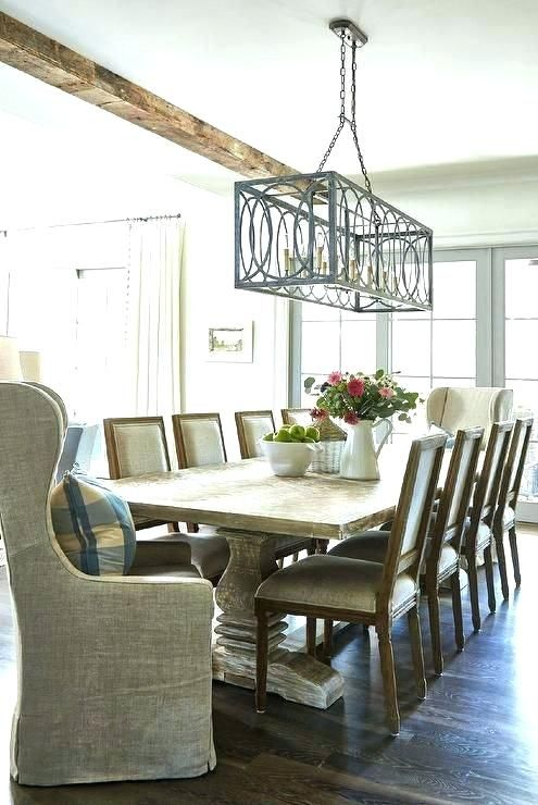 Rectangle Dining Table Chandelier C French Oak Marble Rectangular