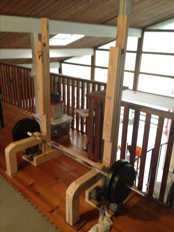 My diy squat and dead lift rack strength training