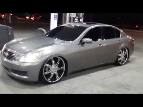08 Infiniti G35 Slammed On 22 S Youtube Infiniti Slammed G37 Sedan