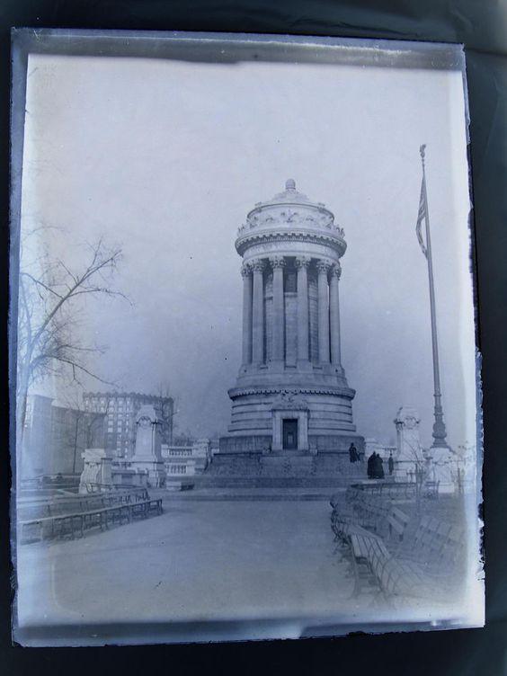 Antique Glass Negative 3 x 4 Soldiers & Sailors Monument Riverside Park NYC