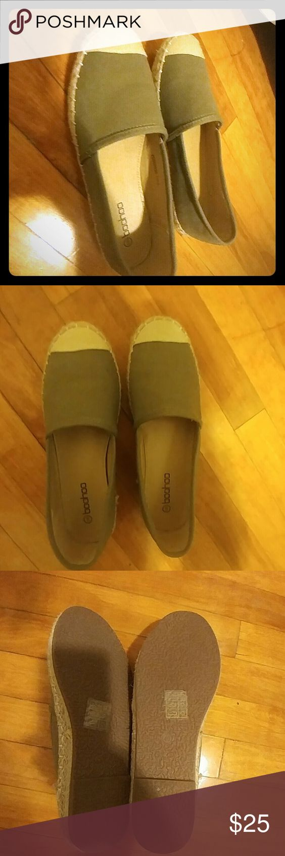 Olive Green Espadrilles Olive Green / Khaki Espadrilles. Worn Once. Great condition Shoes Espadrilles