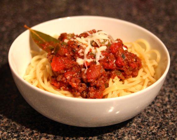 The Lavender Apple: Venison Spaghetti
