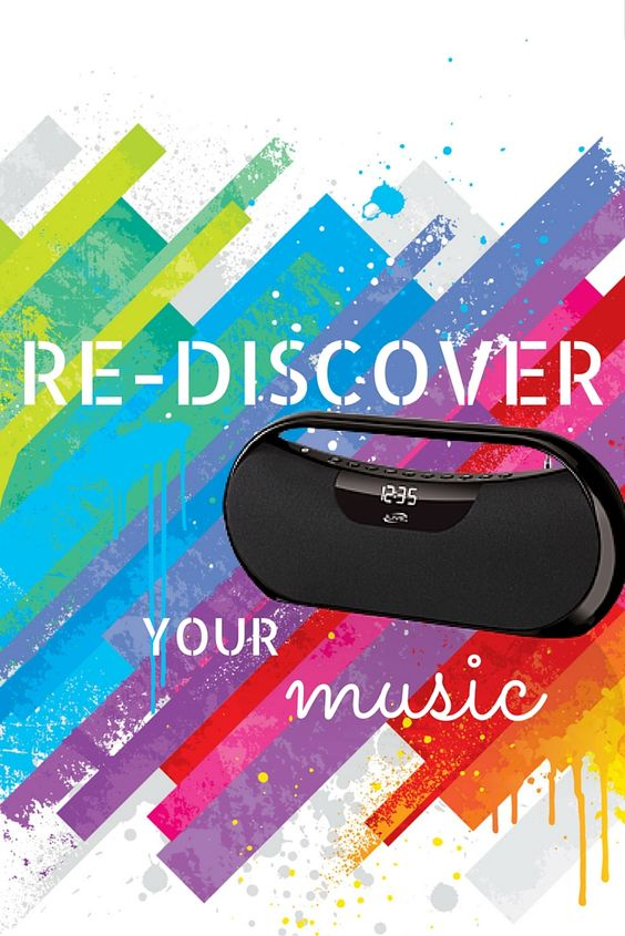 Re-discover your music in style with this portable Bluetooth Boombox. #DPI #YourFriendInTech