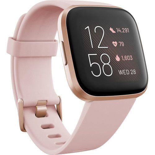 Fitbit Versa 2 Health Fitness Smartwatch Petal Copper Rose