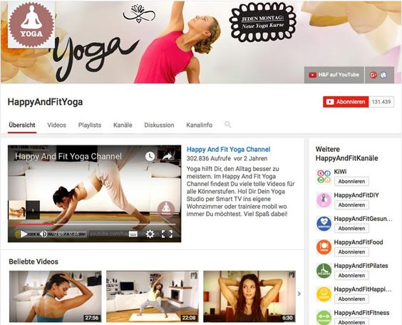 Unsere Fitness-Youtube Top-3 richtet sich an alle #Yogis und #Yoginis unter euch. #HappyAndFitYoga ist ein deutschsprachiges YouTube-Angebot. Der Yoga-Kanal liefert jede Woche neue Yoga-Inspiration für alle Trainingsstufen. Hier finden sowohl absolute Yoga-Neulinge erste #Trainingsanleitungen, als auch eingefleischte Yogis. Neben Online-Yogaklassen bietet der Kanal auch grundlegende Infos über #Yoga. #YouTube #fitness #frauenfitness #training #goExerceria exerceria.com