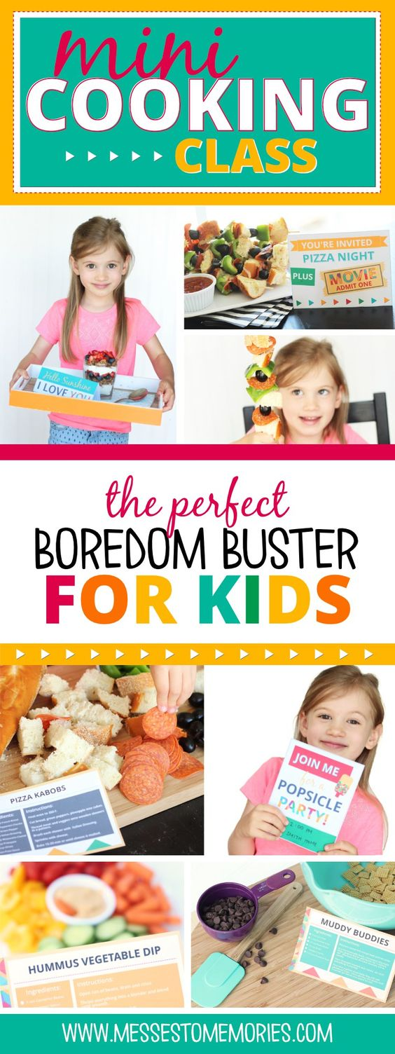 Mini Cooking Class - The perfect boredom buster for kids! Create some memories this summer!