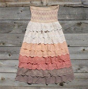 cotton lace sundress (light pink, cream, peach, cranberry, & brown)