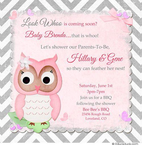 Owl Baby Shower Invitation Wording Ideas Baby invitations - baby shower invitation words