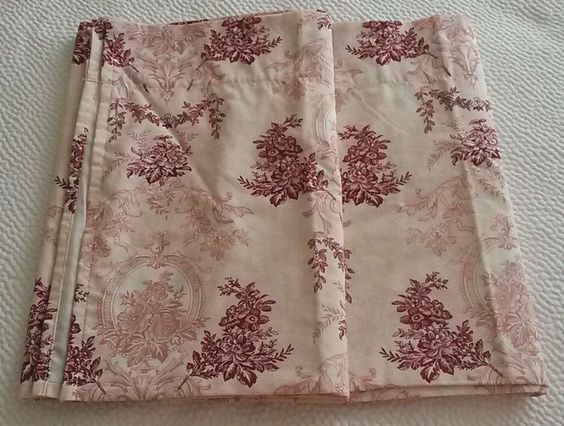 Set of 2 Modern Toile Colonial Americana Cafe Valance Curtains ...