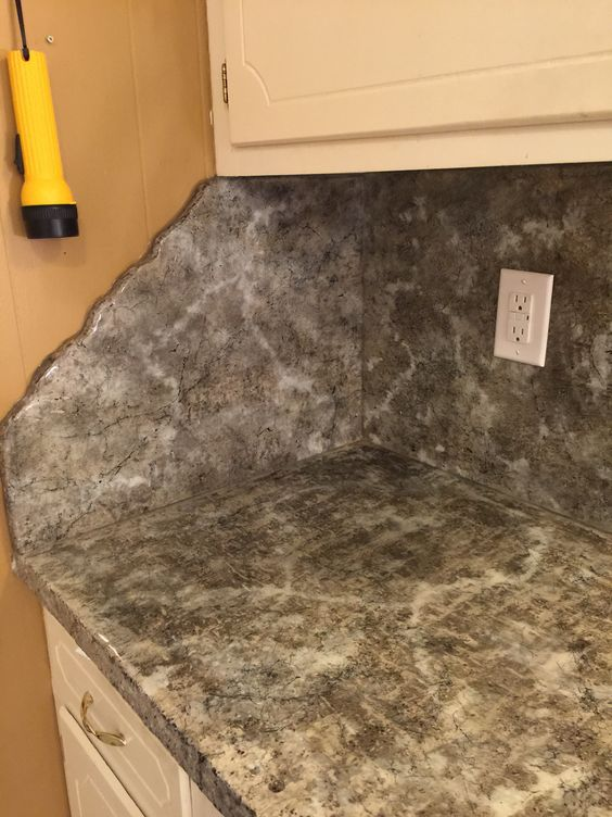 Chipped Edge End Cap Concrete Countertops Tile Floor Flooring