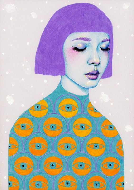 Colorful Pencil Illustrations by Natalie Foss: