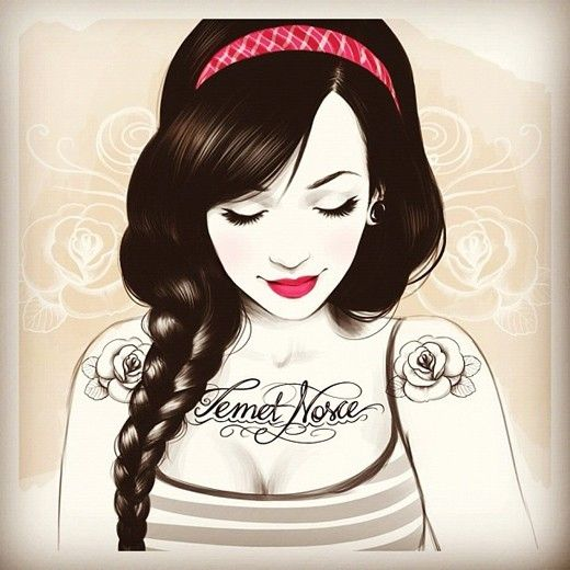 Sweet illustration. Like the tattoos.