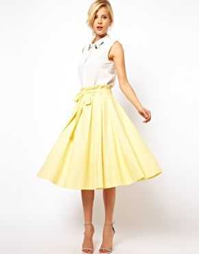 Midi A Line Skirt Uk