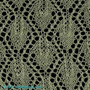 Knitting Lace Stitch Dictionary : Knitting stitches, Leaves and Stitches on Pinterest