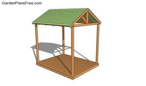 Outdoor shelter free gazebo plans pinterest gardens for A frame shelter plans