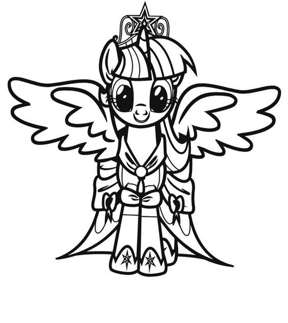 twilight sparkle my little pony coloring page my little pony pinterest coloring pages