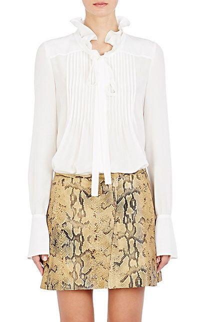Chloé Silk Pintucked Blouse - Blouses - Barneys.com