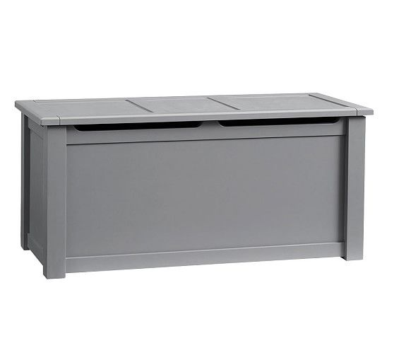Ultimate Toy Chest Charcoal Standard Ups Delivery Pottery Barn