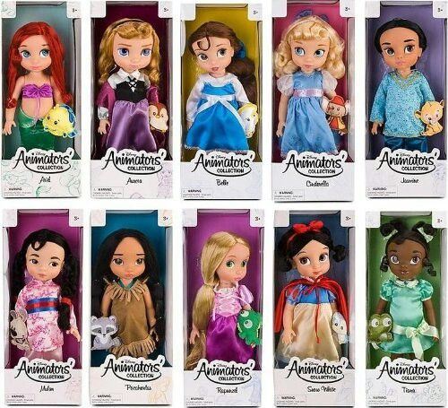 Disney princesses dolls. The girls have 2 of these. They're super cute and Rory loves them, but their hard bodies make it hard for her to cuddle with.