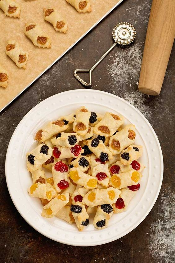 Kiffles are delicate Hungarian cookies made from cream cheese pastry wrapped around fruit or nut fillings.