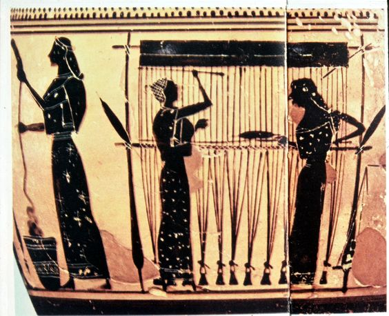 A Picture of Women Weaving in the History