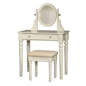 White Victoria Vanity Set | World Market