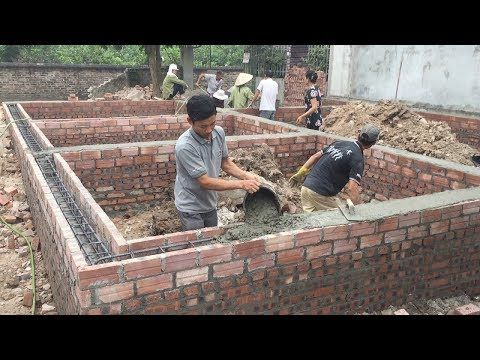 Technology Building Traditional Concrete Beams Foundation Houses Construction Youtube Home Construction Beams Construction