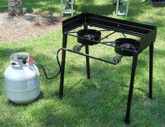 Outdoor deep fryer aluminum propane gas turkey cooker for Outdoor fish fryer