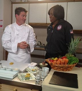 McDonald's Chef Dan & Olympian Jackie Joyner-Kersee whip up a meal for families at a Ronald McDonald House in London (by McDonaldsCorp, via Flickr)