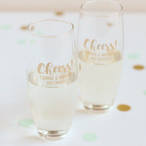 50 Best Cheap Wedding Favor Ideas Affordableweddingfavors Cheapweddingfavors Fa Stemless Champagne Flutes Stemless Champagne Personalized Bridal Gifts