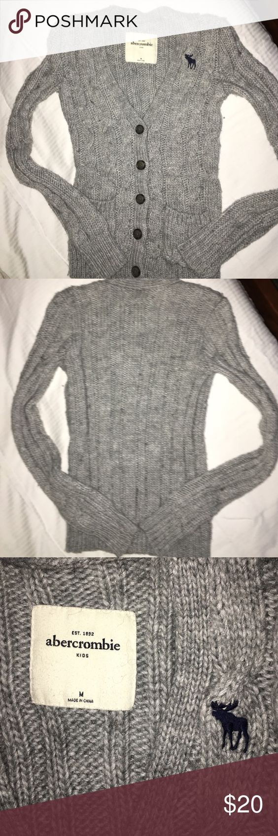 Abercrombie Girls Gray Cardigan sweater Abercrombie Girls Gray Cardigan sweater. Excellent condition. abercrombie kids Shirts & Tops Sweaters