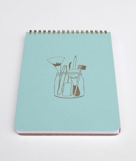 Makeup Artist's Tools Notebook Spiral Bound by hartfordprints