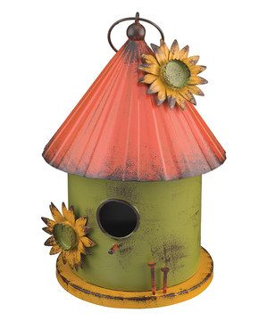 Folk Cylinder Birdhouse by Regal Art & Gift #zulily #zulilyfinds