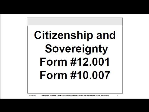 Citizenship And Sovereignty Form   Citizenship And