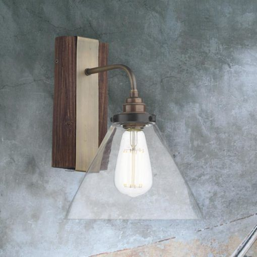 Wood Clear Glass Wall Light Cl 36767 Clear Glass Wall Light Wall Lights Glass Wall Lights