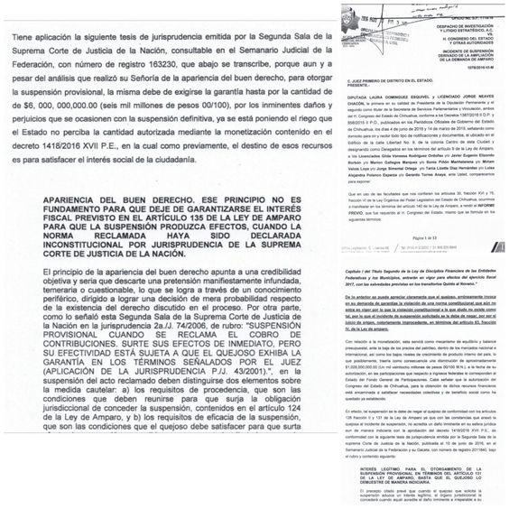 Responde Congreso a Juez; pide 6 mmdp de garantía a asociación por suspensión de bursatilización | El Puntero