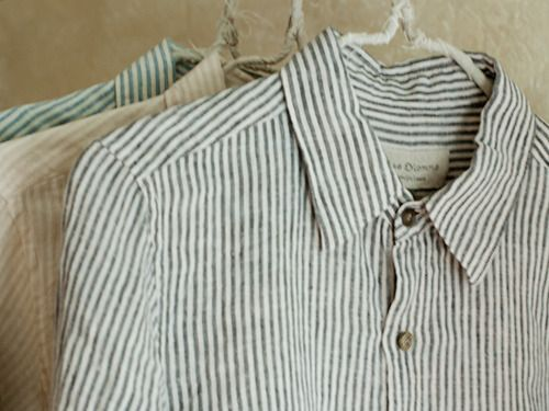 washed striped long sleeves