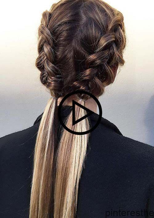Coiffure Facile A Faire Soi Meme Pour Cheveux Mi Long Coiffure Simple Et Coiffure Facile Coiffure Cheveux Long Facile Coiffure Cheveux Mi Long