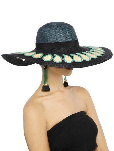 Pin for Later: Behaltet einen kühlen Kopf mit diesen coolen Sommerhüten  Etro breitkrempiger Strohhut mit Paisleydetail (ursprünglich 490 €, jetzt 343 €)